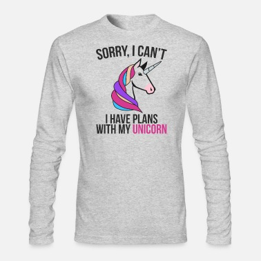 Plans With Cute Unicorn Perfect Gift Idea - Men's Longsleeve Shirt