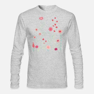 Plymouth Plymouth Flowers - Men's Long Sleeve T-Shirt by Next Level