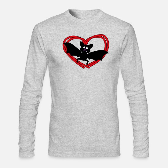 Love Long-Sleeve Shirts - Bat - Men's Longsleeve Shirt heather gray