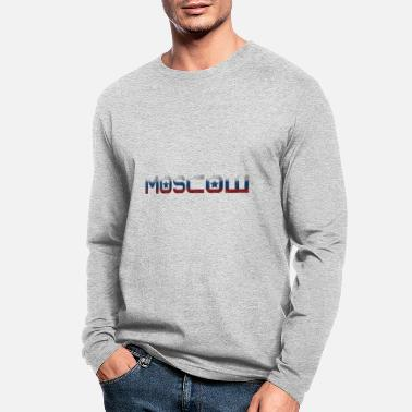 Cyrillic Moscow - National Colors - Kremlin - Men's Longsleeve Shirt