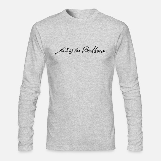 Beethoven Long-Sleeve Shirts - Signature of Beethoven - Men's Longsleeve Shirt heather gray