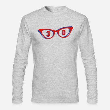 3d 3D glasses in 3D - Men's Longsleeve Shirt