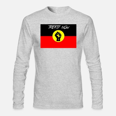 Treaty treaty aboriginal flag - Men's Longsleeve Shirt