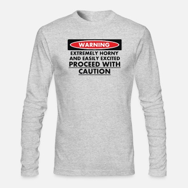 warning-horny-extreme - Men's Longsleeve Shirt