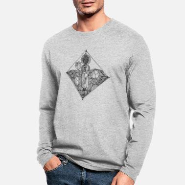 Pen The Lined Design and The vector design. - Men's Longsleeve Shirt