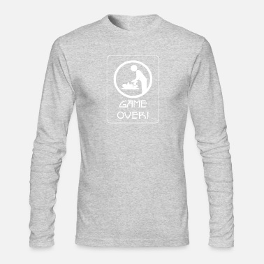 Parents New Dad Game Over Baby Daddy Parent - Men's Longsleeve Shirt