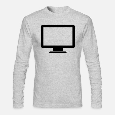 Monitoring computer monitor icon present - Men's Longsleeve Shirt