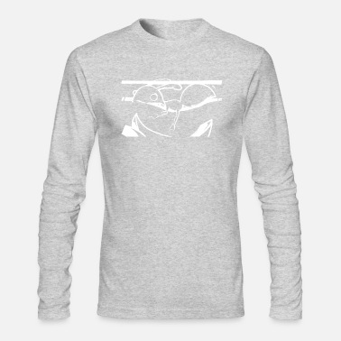 Bug White ant in urban graffiti style - Men's Long Sleeve T-Shirt by Next Level