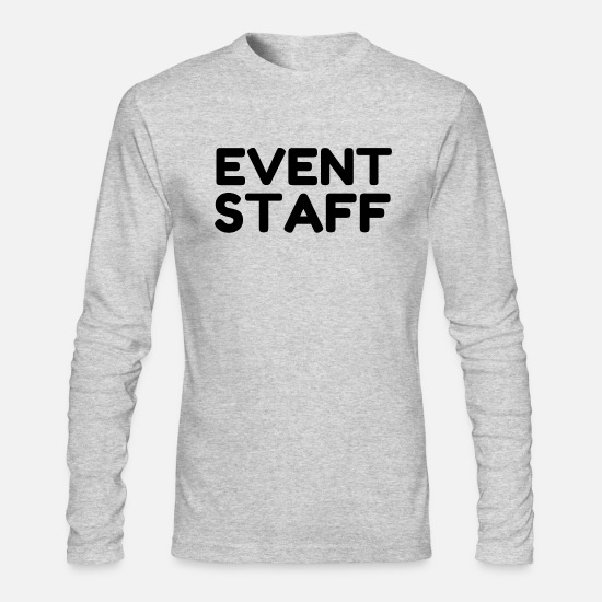 Staff Long-Sleeve Shirts - EVENT STAFF - Men's Longsleeve Shirt heather gray
