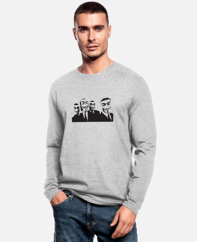 Acta Long-Sleeved Shirts - Anonymous - Men's Longsleeve Shirt heather gray