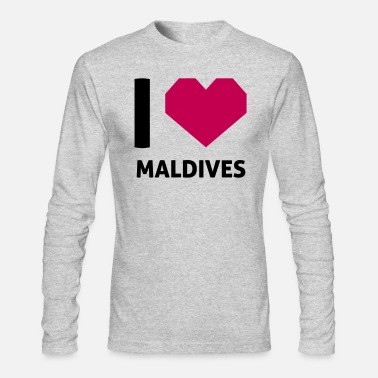 Maldives I Love Maldives - Men's Long Sleeve T-Shirt by Next Level