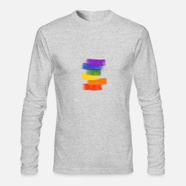 Rainbow Pride flag rainbow colors LGBT gay pride - Men's Longsleeve Shirt