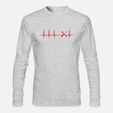 Work On Cars Heartbeat Car Mechanic Service Station Funny Gift - Men's Longsleeve Shirt