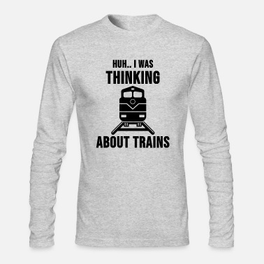 Railway Track Locomotive Engineer Train Driver Cool Gift - Men's Longsleeve Shirt