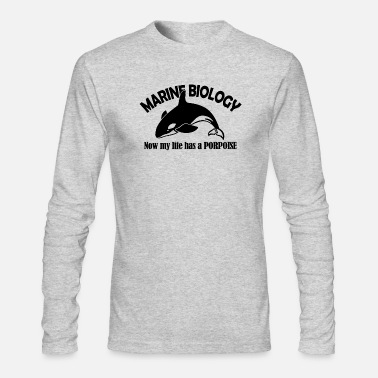 Biology marine biology porpoise - Men's Long Sleeve T-Shirt by Next Level