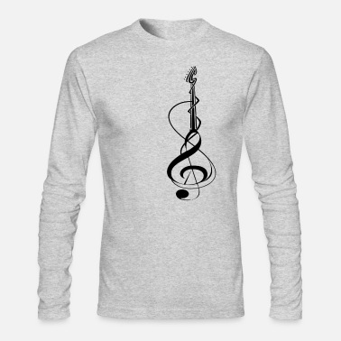 Guitar Music Bassist Band Musican Player Gift - Men's Longsleeve Shirt