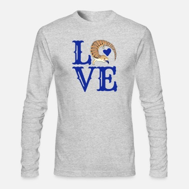 Tongue LOVE BLUE TONGUED SKINK - Men's Longsleeve Shirt