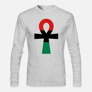 Red Black And Green Red, Black & Green Ankh - Men's Longsleeve Shirt