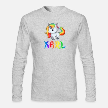 Karl Karl Unicorn - Men's Long Sleeve T-Shirt by Next Level