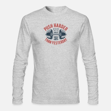 Weights play harder - Men's Long Sleeve T-Shirt by Next Level