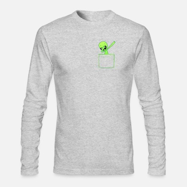 Fake Cool Funny UFO From Outer Space Alien Dab Shirt - Men's Longsleeve Shirt