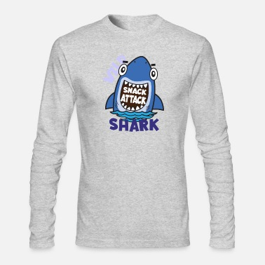 Kids Baby Shark Cartoon Kids Shirts for Kids Toddler Cartoon shark Tees - Men's Longsleeve Shirt