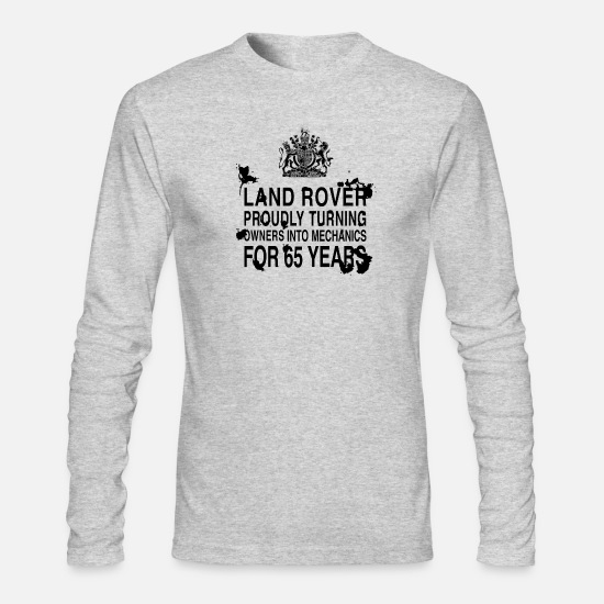 Land Long-Sleeve Shirts - Land Rover 65 years - Men's Longsleeve Shirt heather gray