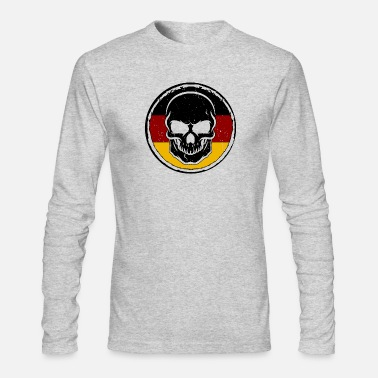 Federal Germany Soccer Football Skull Ball Gift idea - Men's Long Sleeve T-Shirt by Next Level