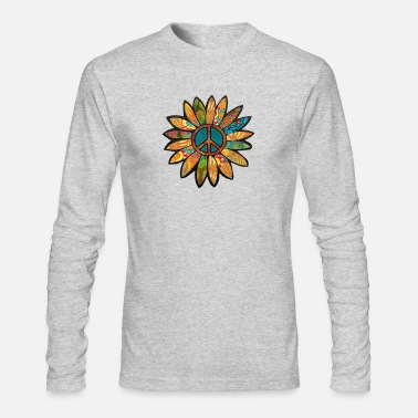 Earthy Earthy Peace Flower - Men's Longsleeve Shirt