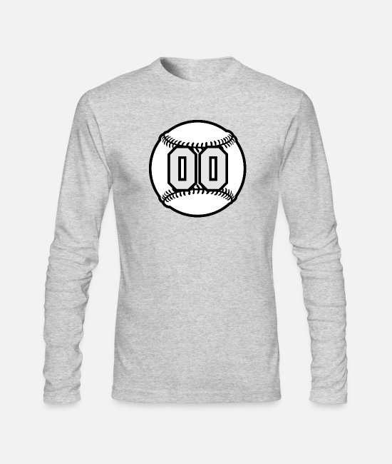 Ball Long-Sleeved Shirts - 00 Baseball Raster 3_color TAS - Men's Longsleeve Shirt heather gray