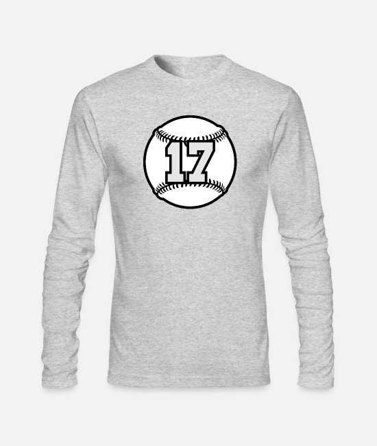 Ball Long-Sleeved Shirts - 17 Baseball Raster 3_color TAS - Men's Longsleeve Shirt heather gray