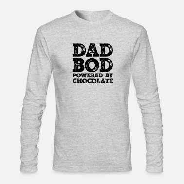 Dad Bod Powered By Chocolate Funny Food Lovers - Men's Longsleeve Shirt