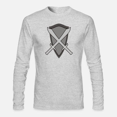 Crusader cavalier chevalier tacital shield sword lance - Men's Long Sleeve T-Shirt by Next Level