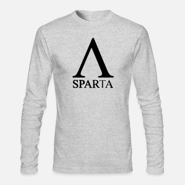 Red Sparta Lambda - Men's Long Sleeve T-Shirt by Next Level