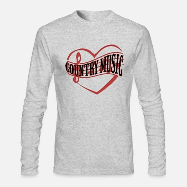 Western This Girl Loves Country Music Shirt Cowboy Guitar - Men's Longsleeve Shirt