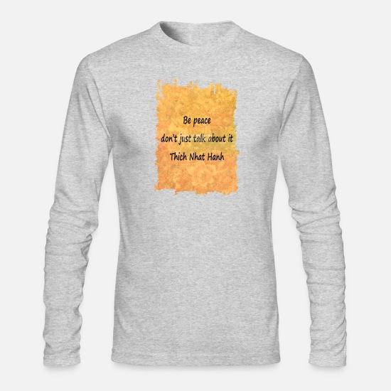 Peace Long-Sleeve Shirts - Be Peace - Men's Longsleeve Shirt heather gray