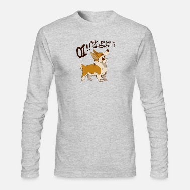 OI -Who you callin Short - Corg Anger Issue - Men's Long Sleeve T-Shirt by Next Level