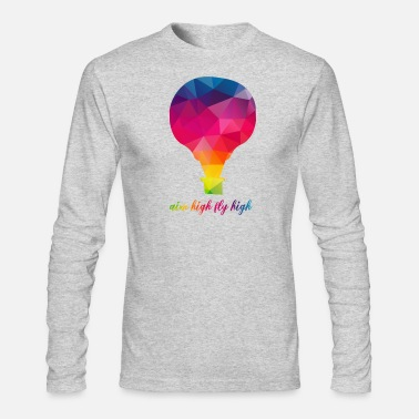 Air Cooled cool hot air balloon Design - Men's Long Sleeve T-Shirt by Next Level