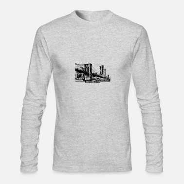 Brooklyn Bridge Brooklyn Bridge Bridge New York - Men's Long Sleeve T-Shirt by Next Level