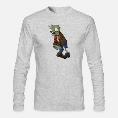 Zombie Plants vs Zombies | Normal Zombie - Men's Long Sleeve T-Shirt by Next Level