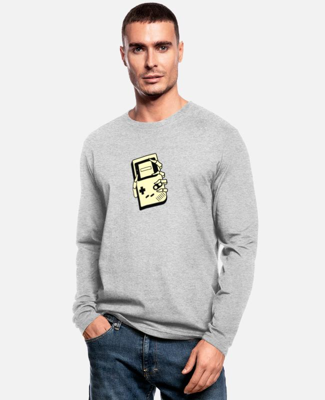 Game Long-Sleeved Shirts - GAMING IS FOREVER - Men's Longsleeve Shirt heather gray
