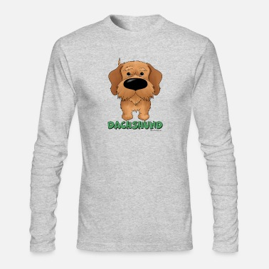 Nose Big Nose Wire Haired Dachshund - Men's Longsleeve Shirt