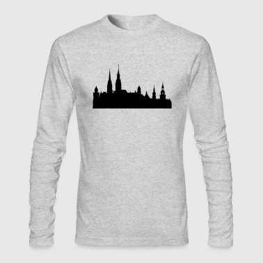 Hamburg silhouette - Men's Long Sleeve T-Shirt by Next Level