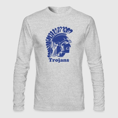 Trojan or Spartan Custom Team Graphic - Men's Long Sleeve T-Shirt by Next Level