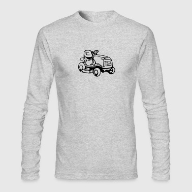 riding mower - Men's Long Sleeve T-Shirt by Next Level