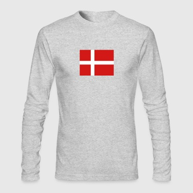 National Flag Of Denmark - Men's Long Sleeve T-Shirt by Next Level