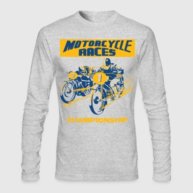 vintage motorbike racing - Men's Long Sleeve T-Shirt by Next Level