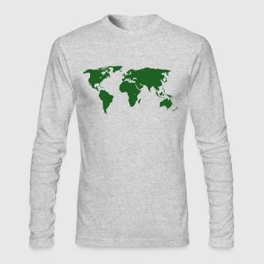 World Maps - Men's Long Sleeve T-Shirt by Next Level