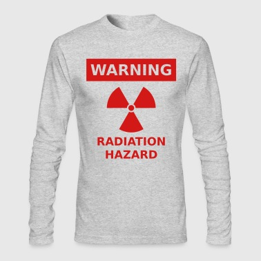 Radiation Hazard Warning Sign - Men's Long Sleeve T-Shirt by Next Level
