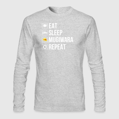 eat sleep mugiwara repeat - Men's Long Sleeve T-Shirt by Next Level